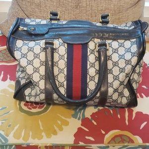 Gucci Vintage Blue Boston Bag